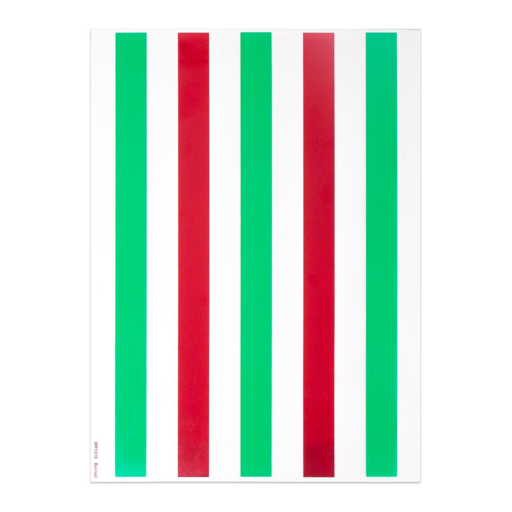 "Red/Green - 8"" x 11"" | 5 Bars | 5/8"" Bar Width"