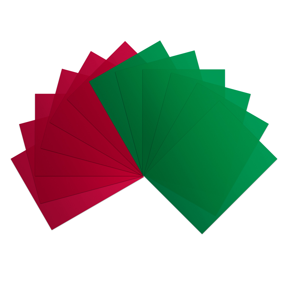 Red Vinyl Sheets (Pkg. of 6) and Green Vinyl Sheets (Pkg. of 6)