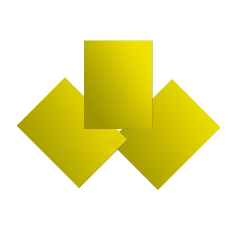 Yellow Vinyl Sheets (Pkg of 3)