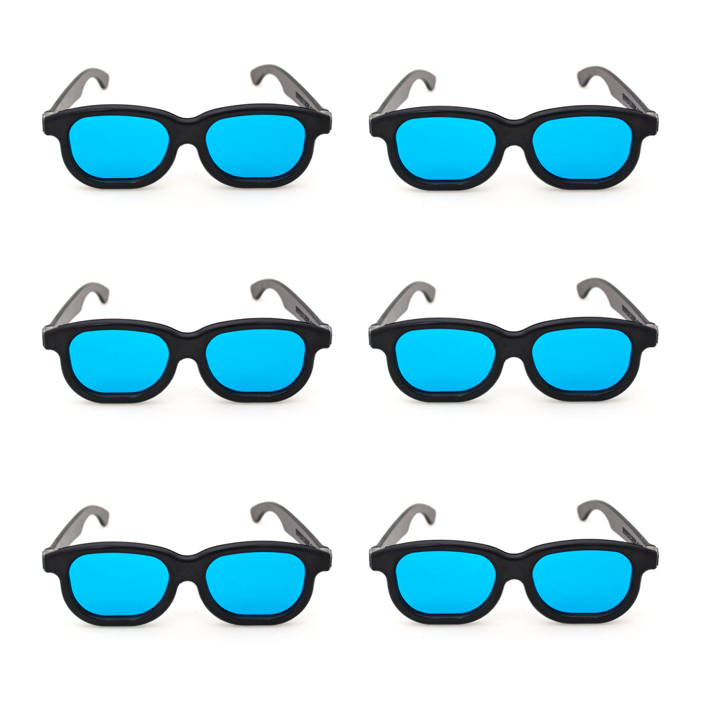 Goggles with Blue Filter Lenses (Pkg. of 6)