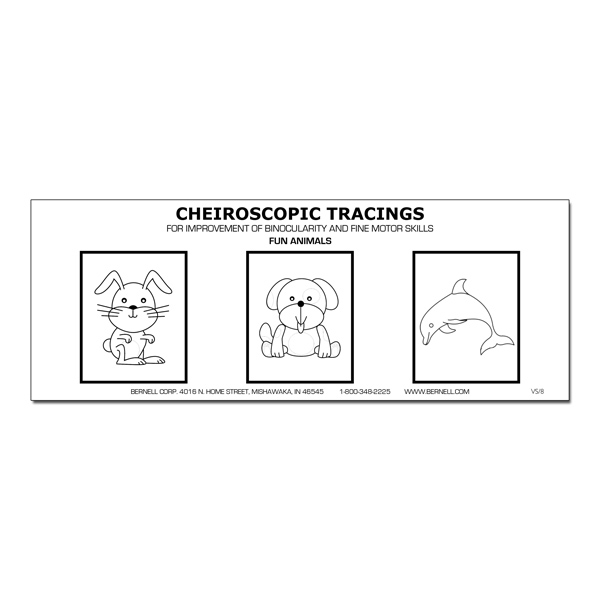 (H) Cheiroscopic Tracing Forms (Pads of 100) Animals