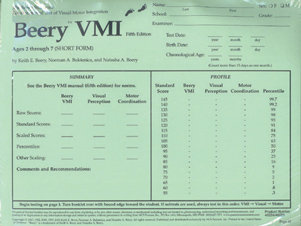 Beery Vmi A Shows The Distribution Of Beery Vmi Scores In