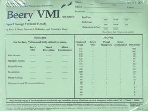 Beery vmi scoring manual online for Beery vmi motor coordination