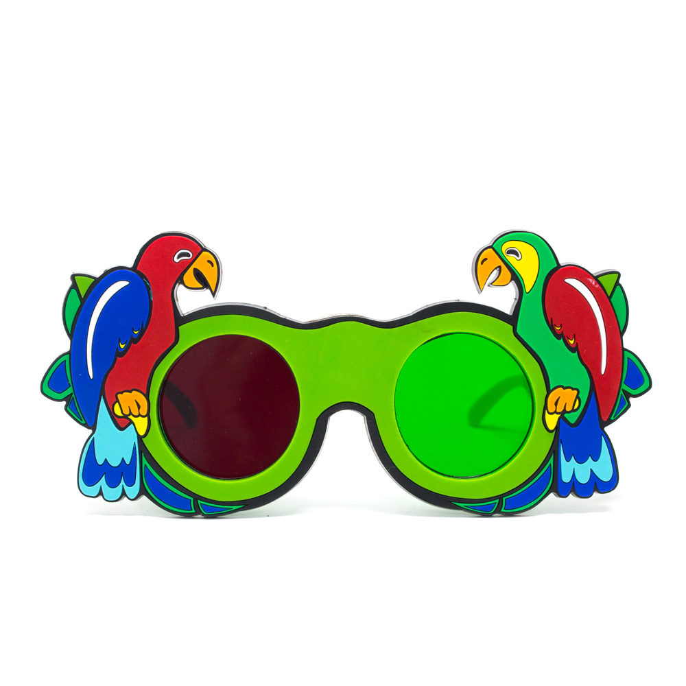 Fun Foam Goggles with Animal Figures - Fun Foam Goggles - Red/Green Parrot