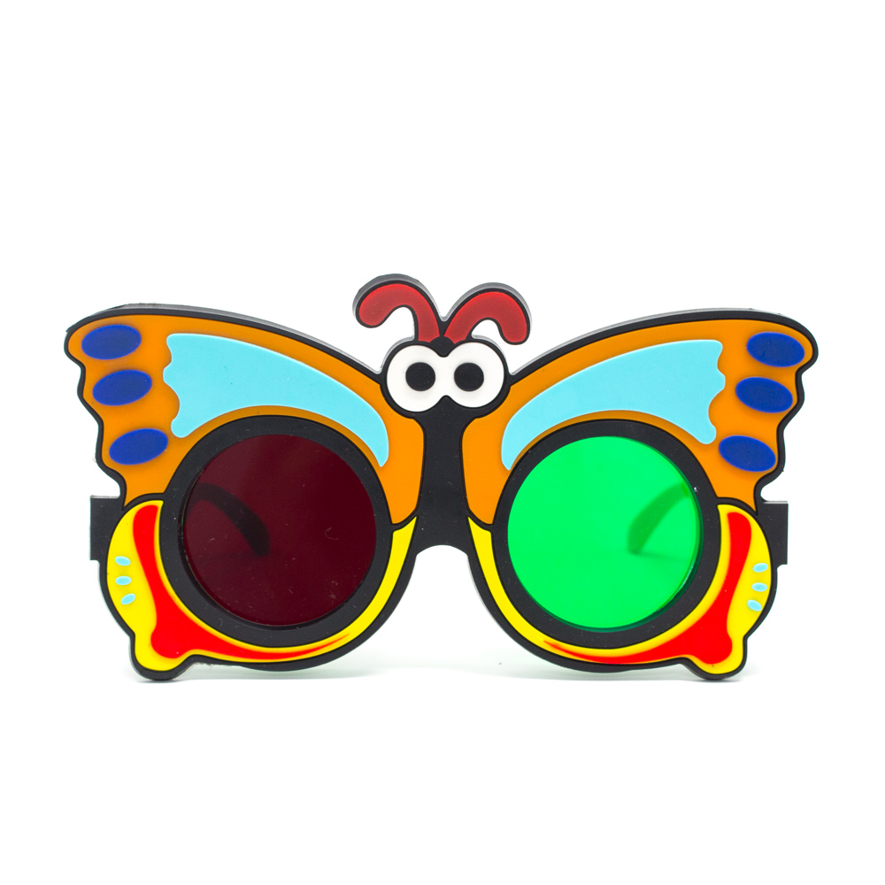 Fun Foam Goggles with Animal Figures - Fun Foam Goggles - Red/Green Butterfly