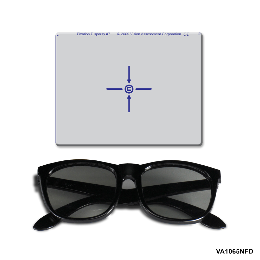 Near Fixation Disparity Target - Comes with Polarized 3-D Viewers