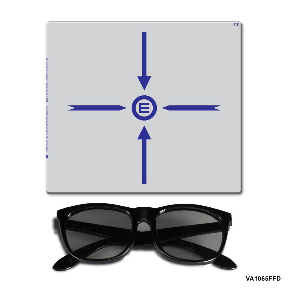 Far Fixation Disparity Target - Comes with Polarized 3-D Viewers