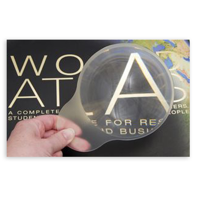 Round Clear Molded Hand Fresnel