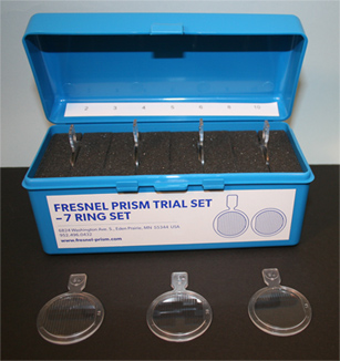 Fresnel Prism Trial Set - 7 Ring Set (2PD-10PD)