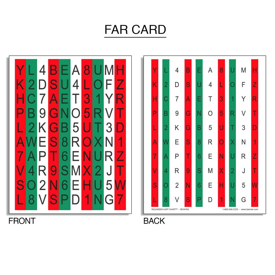 Red/Green Hart Chart™ Accommodative Rock Chart Set