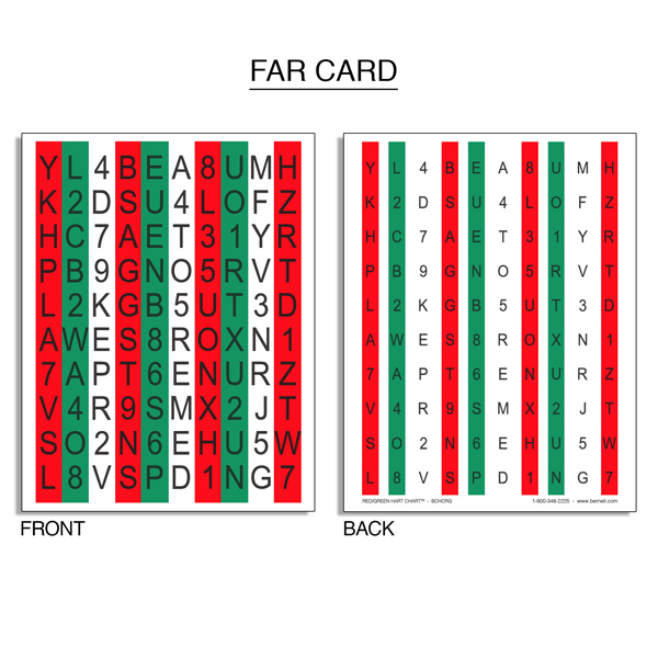 Red/Green Hart Chart™ Accommodative Rock Chart Set