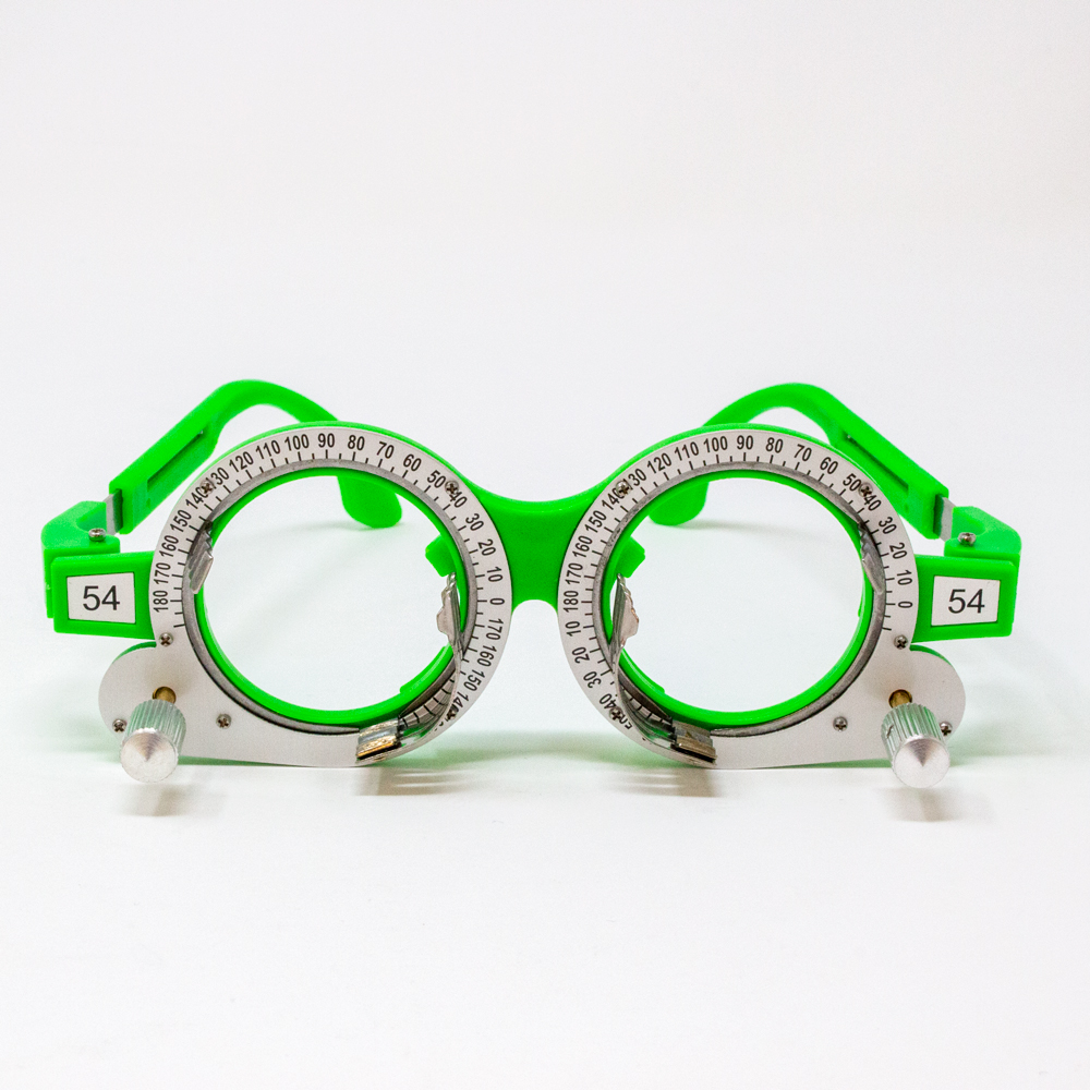 Adult Adjustable Axis Trial Frame - 54PD (Color: Green)