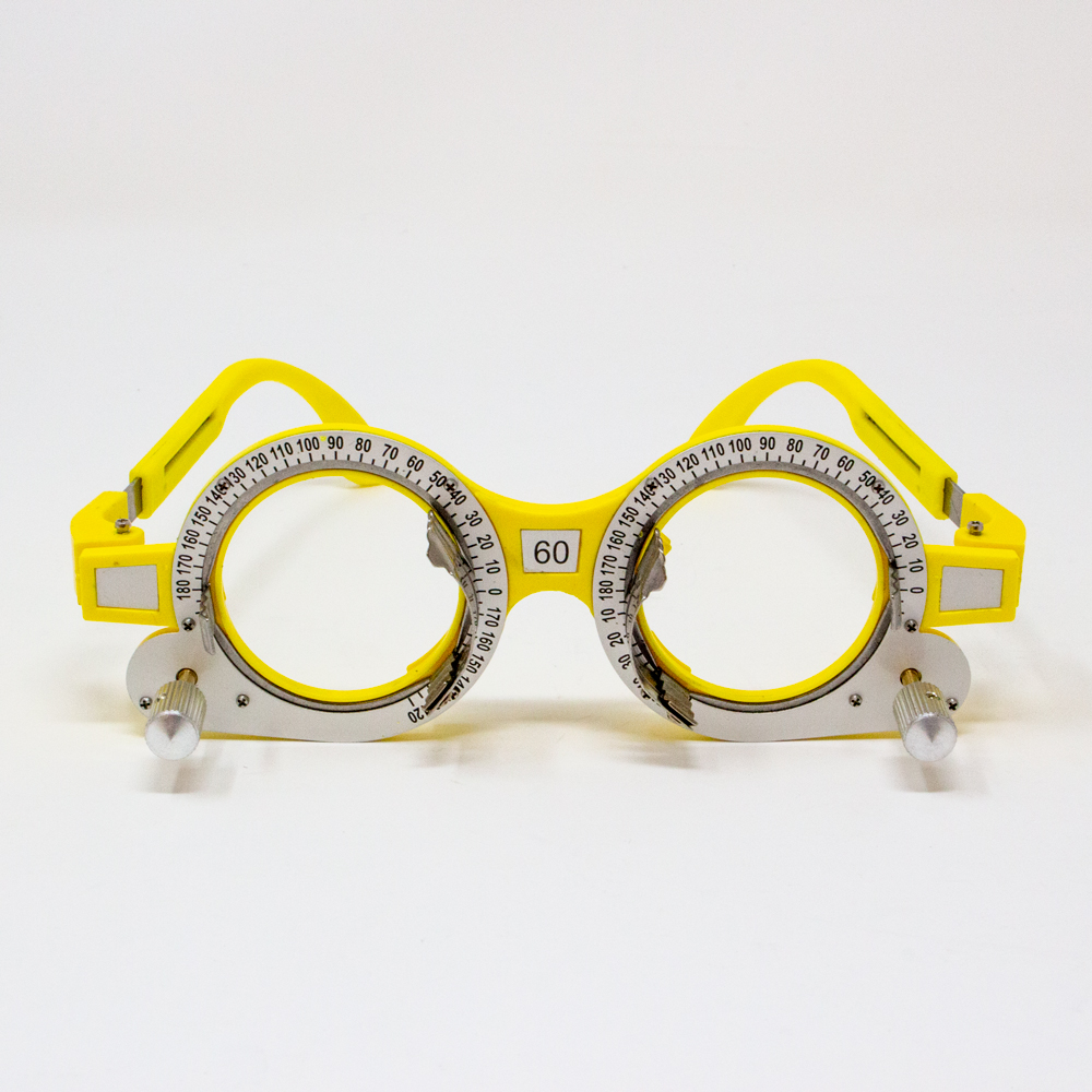 Adult Adjustable Axis Trial Frame - 60PD (Color: Yellow)