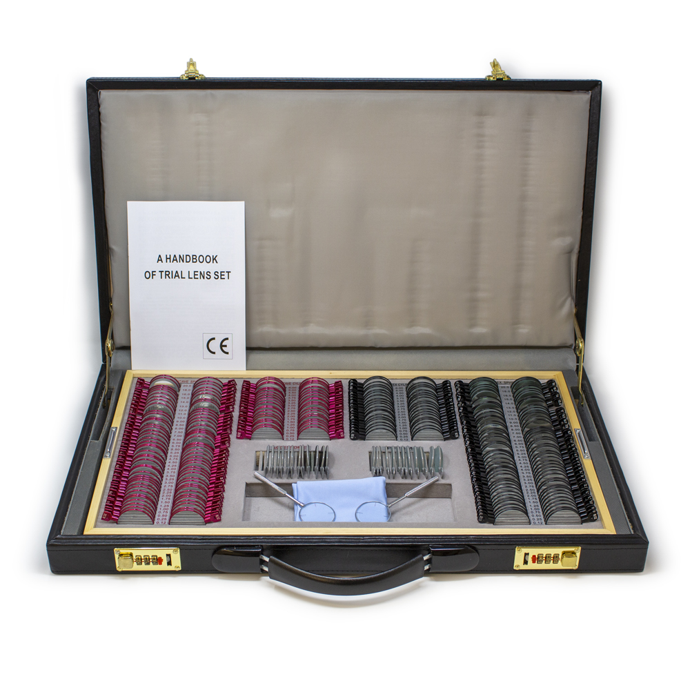 266 Piece Trial Lens Sets with Leather Case