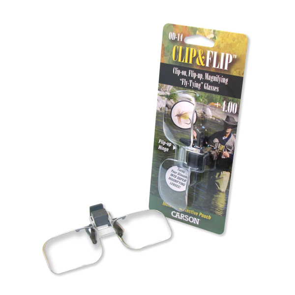 2x Power (+4.00 Diopters) Clip-On, Flip-Up Magnifying Lenses