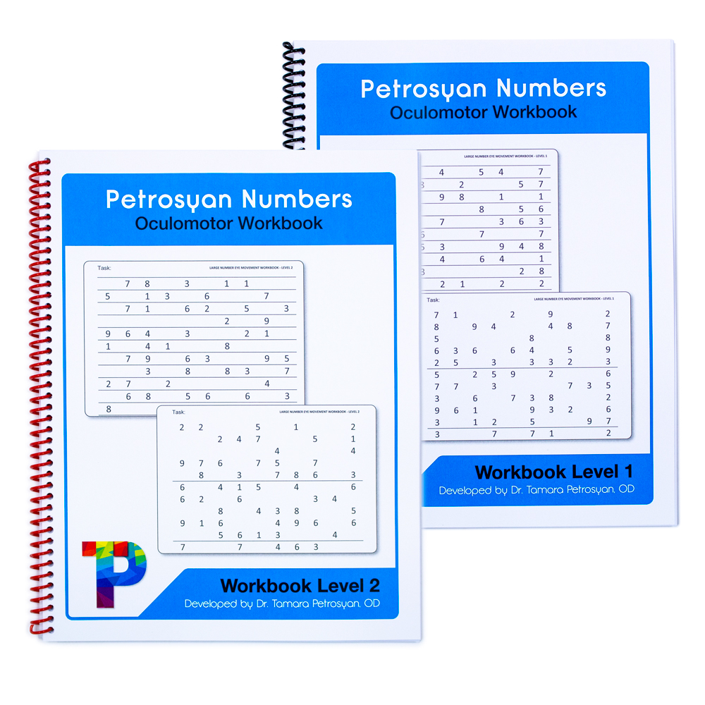 Petrosyan Numbers Oculomotor Skills  Workbook - Level 1 & Level 2