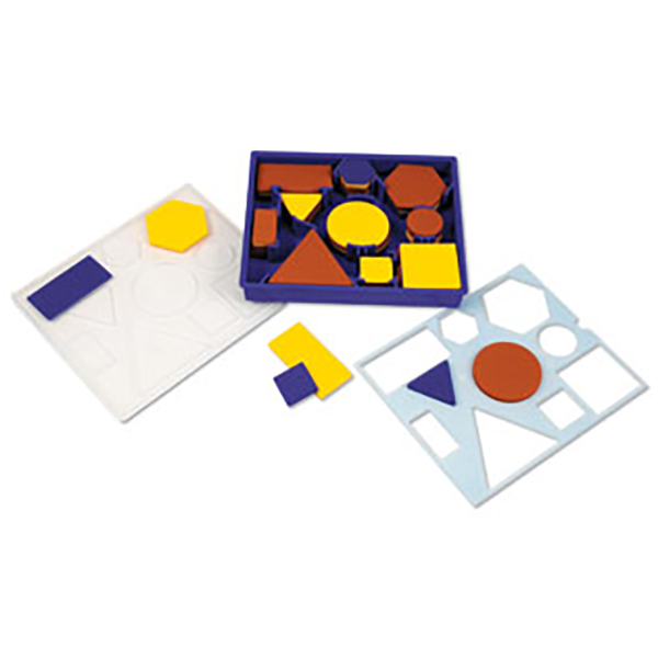 Giant Attribute Block Set with Plastic Storage Tray