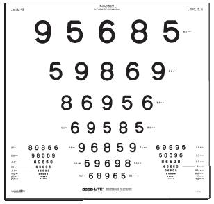 LEA NUMBERS ETDRS Translucent Chart