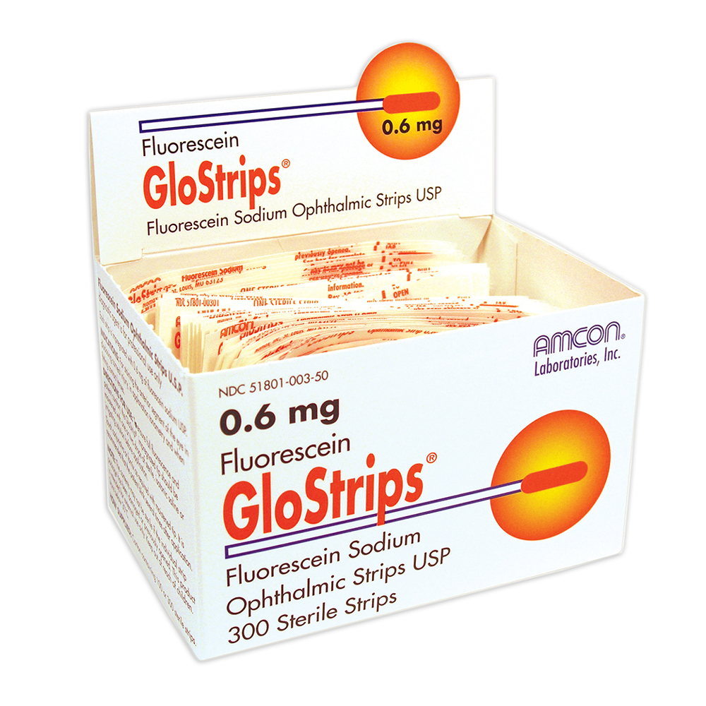 Fluorescein GloStrips® 0.6mg - Box of 300