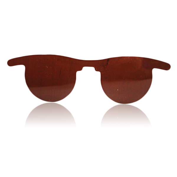 Flat Slip-In Post Mydriatic Glasses - Color: Amber (Priced Per Box of 50)