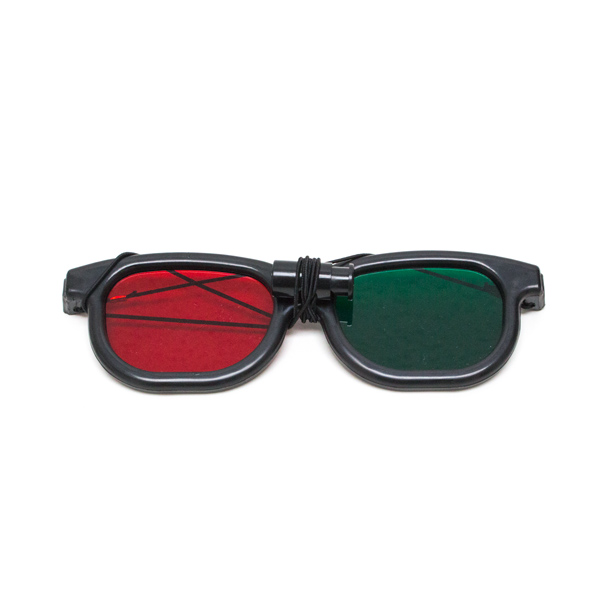 New Age - Red/Green Goggles with Elastic (Single Pair)