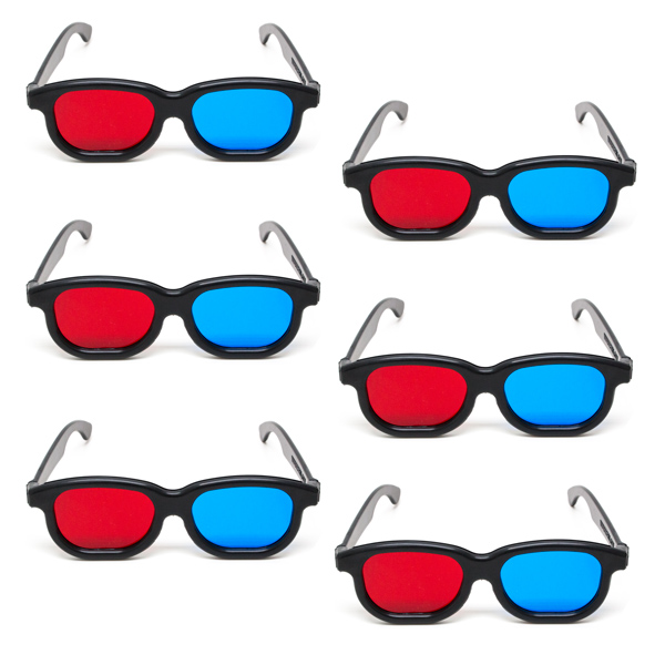 New Age - Red/Blue Computer Goggles - (Lenses Not Glued) - Pkg. of 6