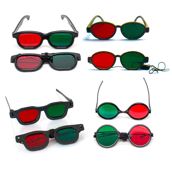 Bernell Red/Green Goggles Variety Pack