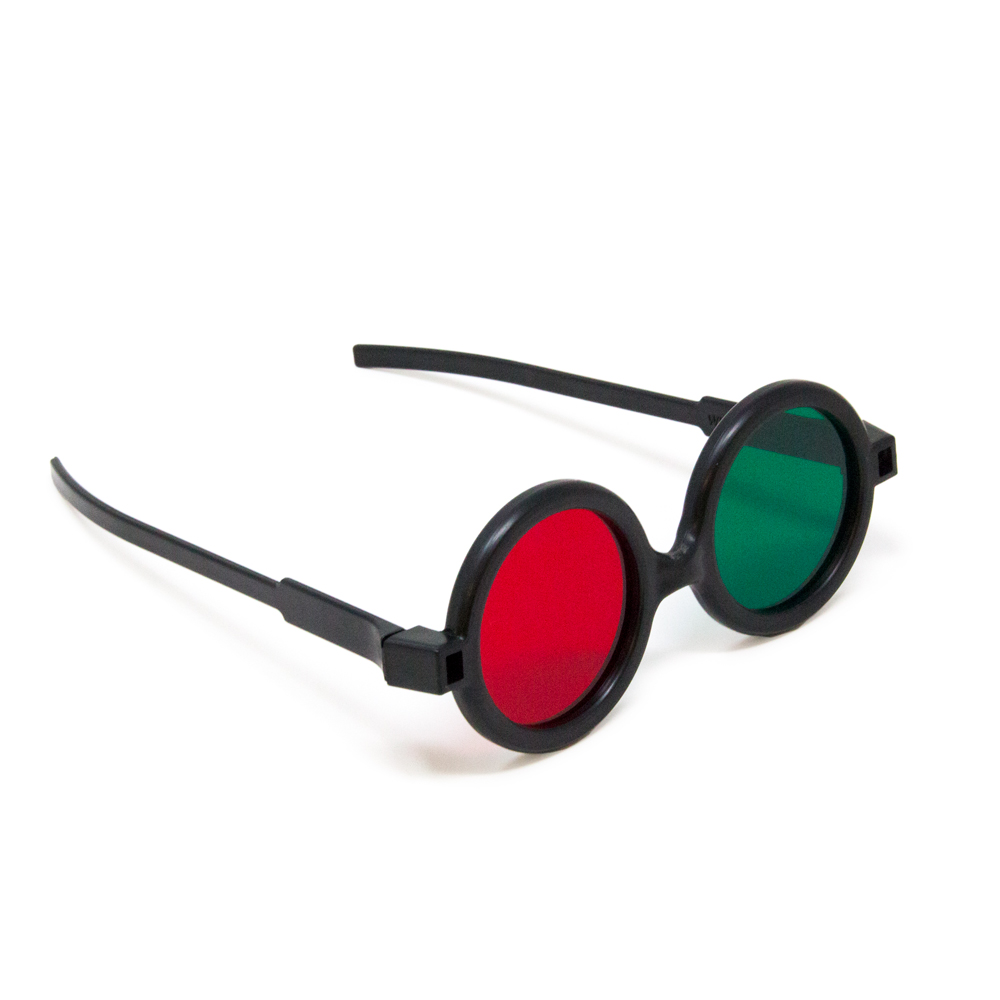 Deluxe Reversible - Red/Green Goggles (Single Pair)