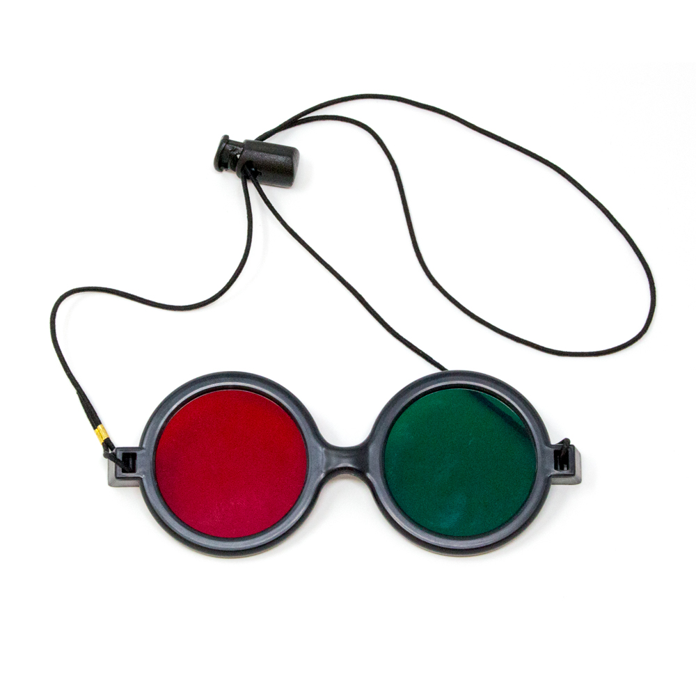Deluxe Reversible - Red/Green Goggles with Elastic (Single Pair)