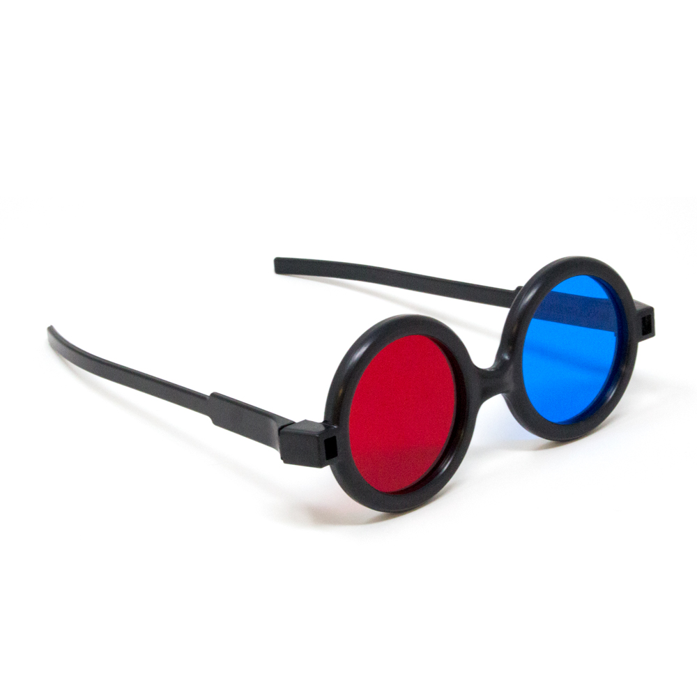 Deluxe Reversible - Red/Blue Computer Goggles (Single Pair)