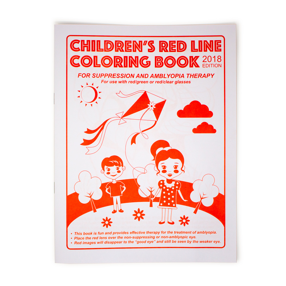 Children's Red Line Coloring Book - 2018 Edition