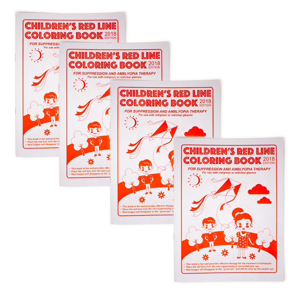 Children's Red Line Coloring Book - 2018 Edition - Package of 4