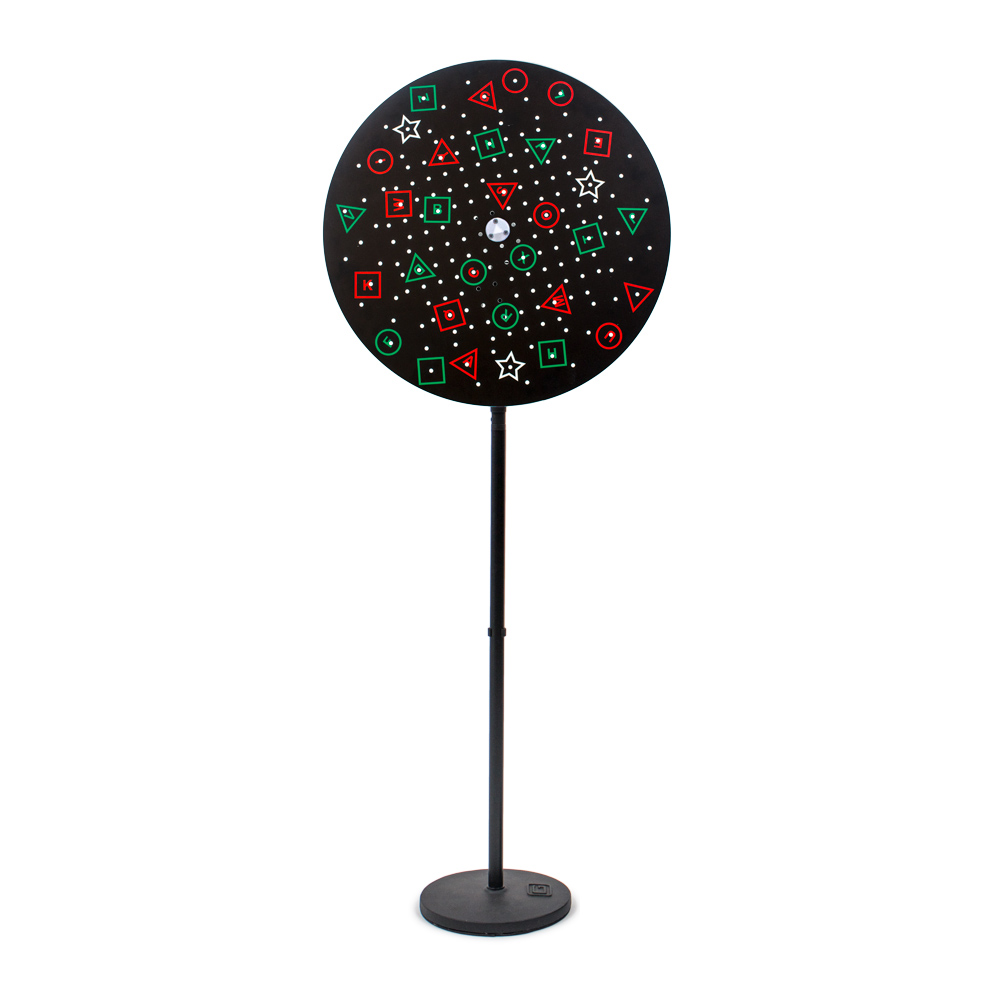 VTP Edition Floor Rotation Trainer with Anti-Suppression Black Background Pegboard Disc