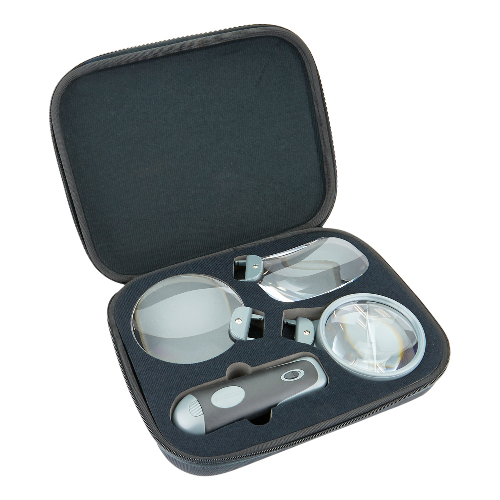 3-in-1 LED Lighted Handheld Magnifier