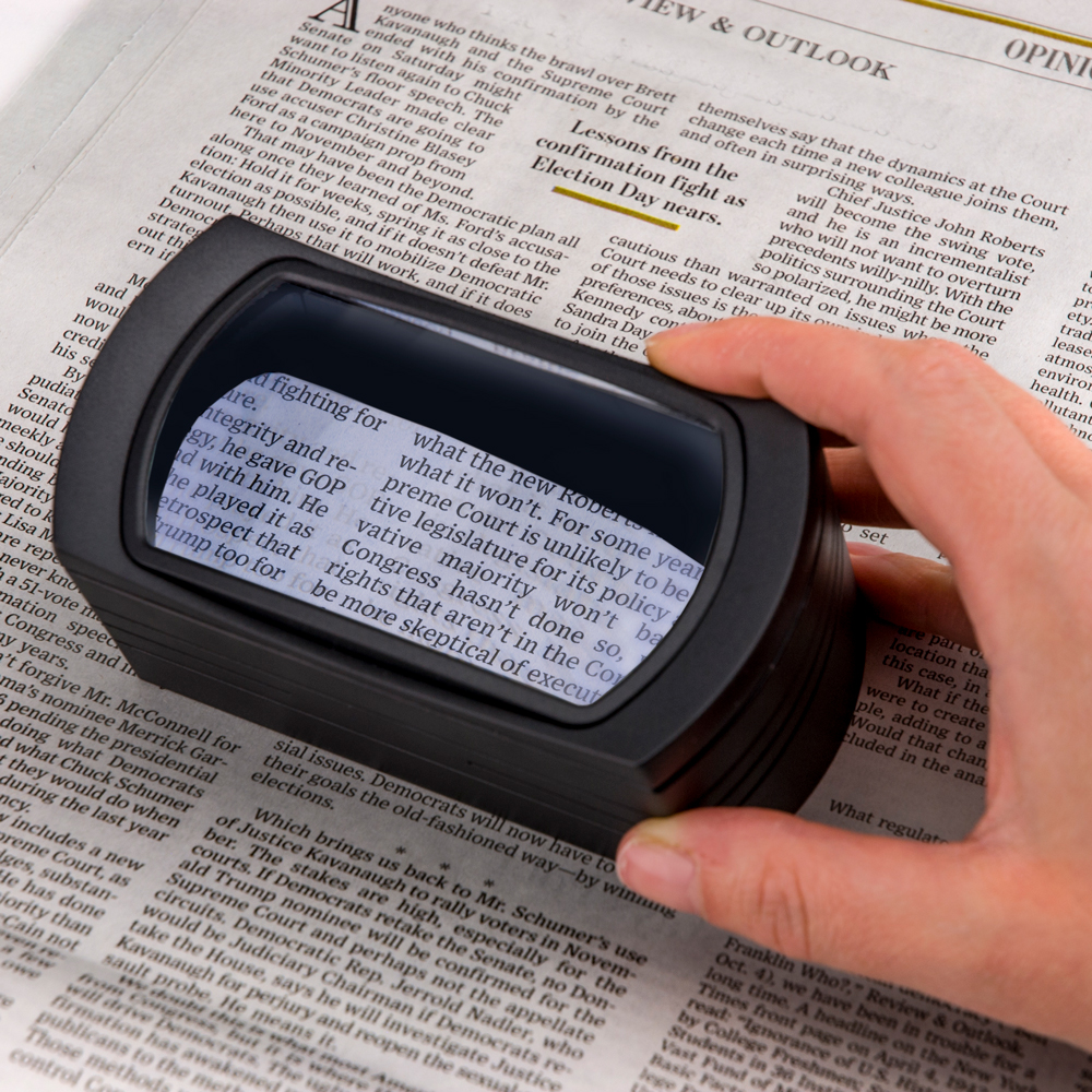 FreeStand™ 2.5x LED Lighted Stand Magnifier