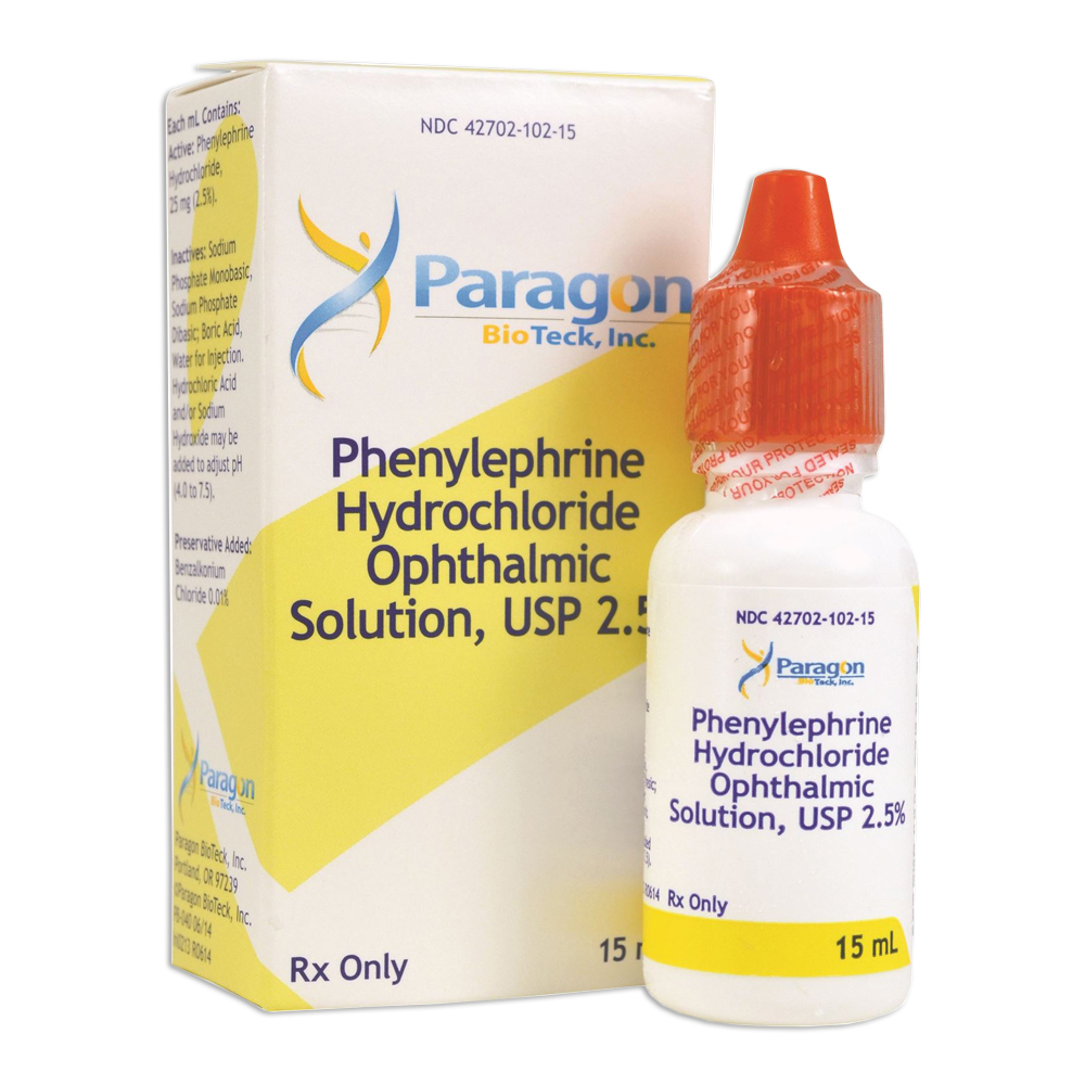 Phenylephrine HCl 2.5% Ophthalmic Solution (15mL) - Non-Refrigerated