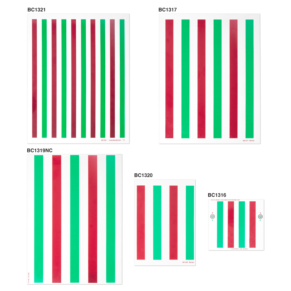 Reading Unit Red/Green - Darker Colors