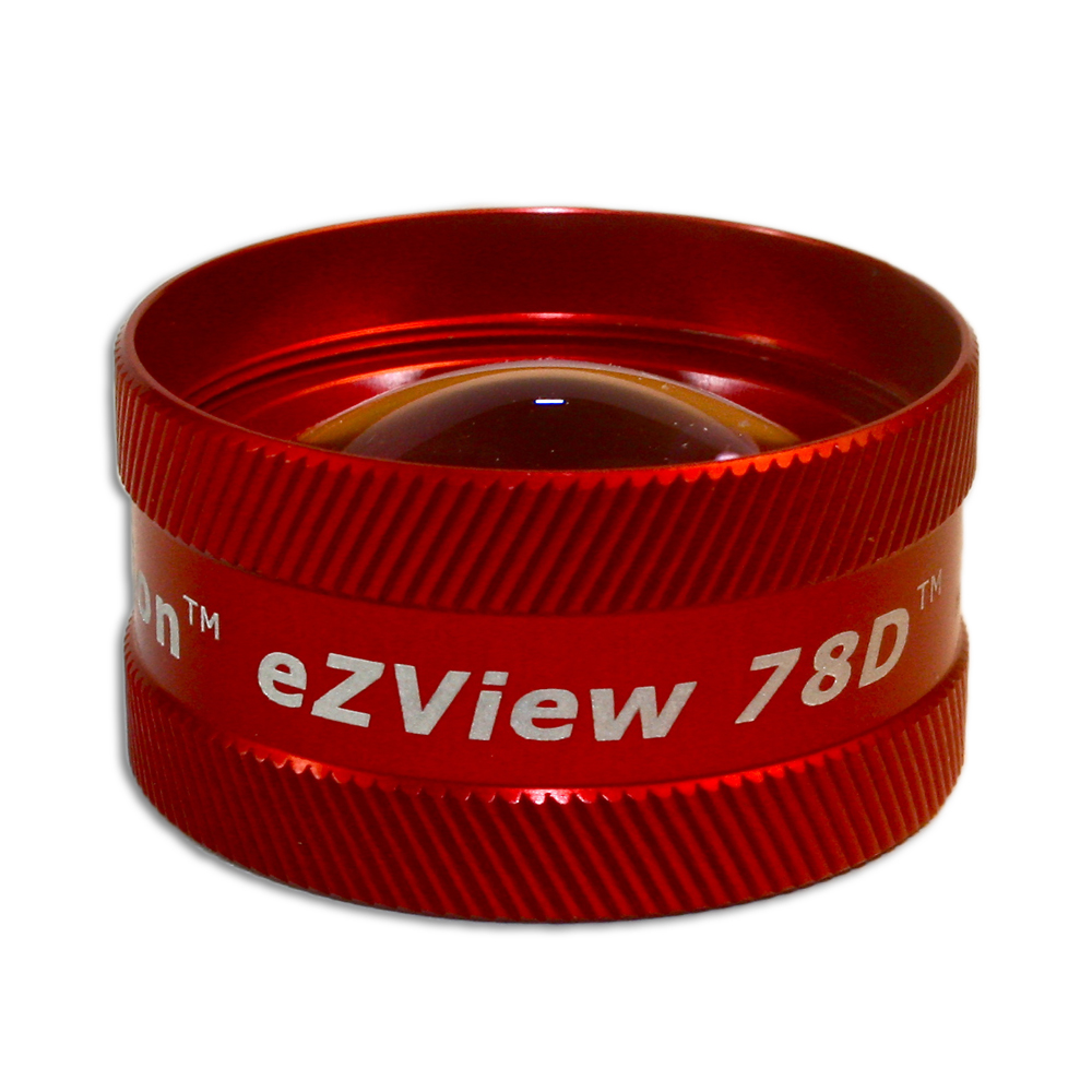 Ion eZView 78D Non-Contact Slit Lamp Lenses - Ion eZView 78D Non-Contact Slit Lamp Lens - Red