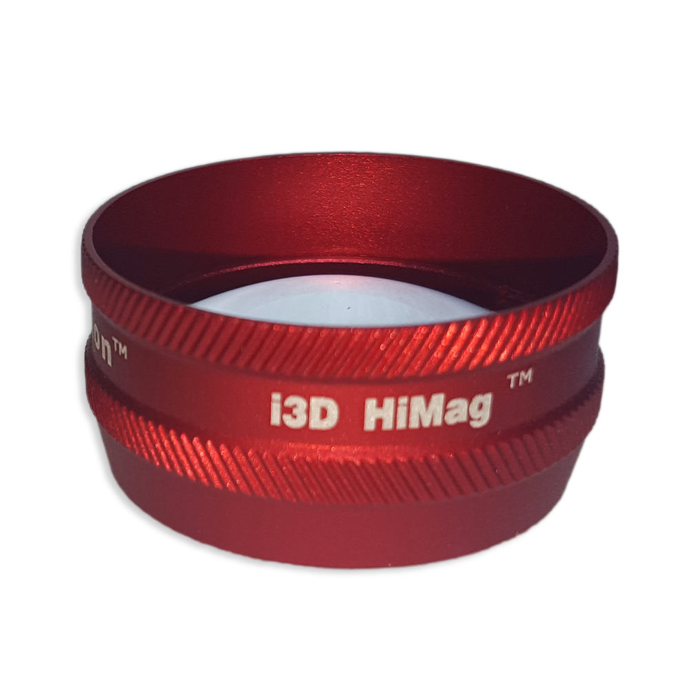Ion i3D High Mag - Non-Contact Slit Lamp Lenses - Ion i3D High Mag - Non-Contact Slit Lamp Lens - Red
