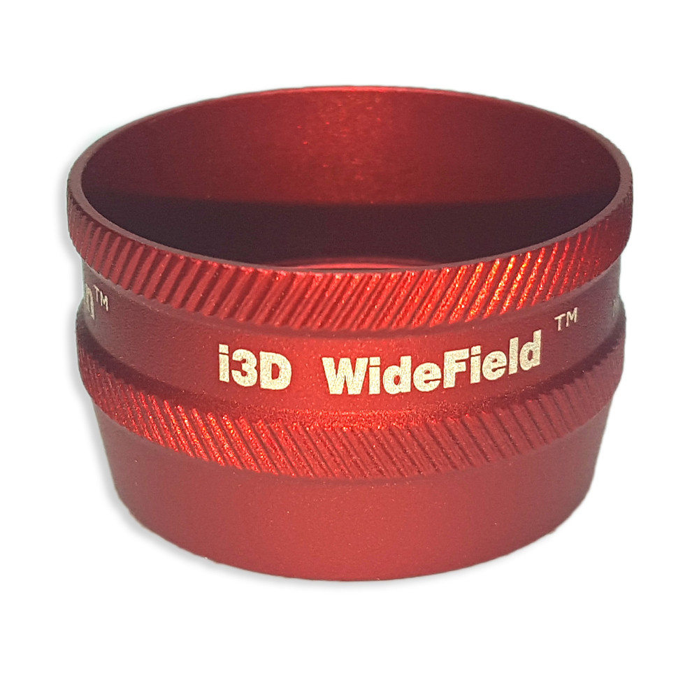 Ion i3D WideField - Non-Contact Slit Lamp Lenses - Ion i3D WideField - Non-Contact Slit Lamp Lens - Red