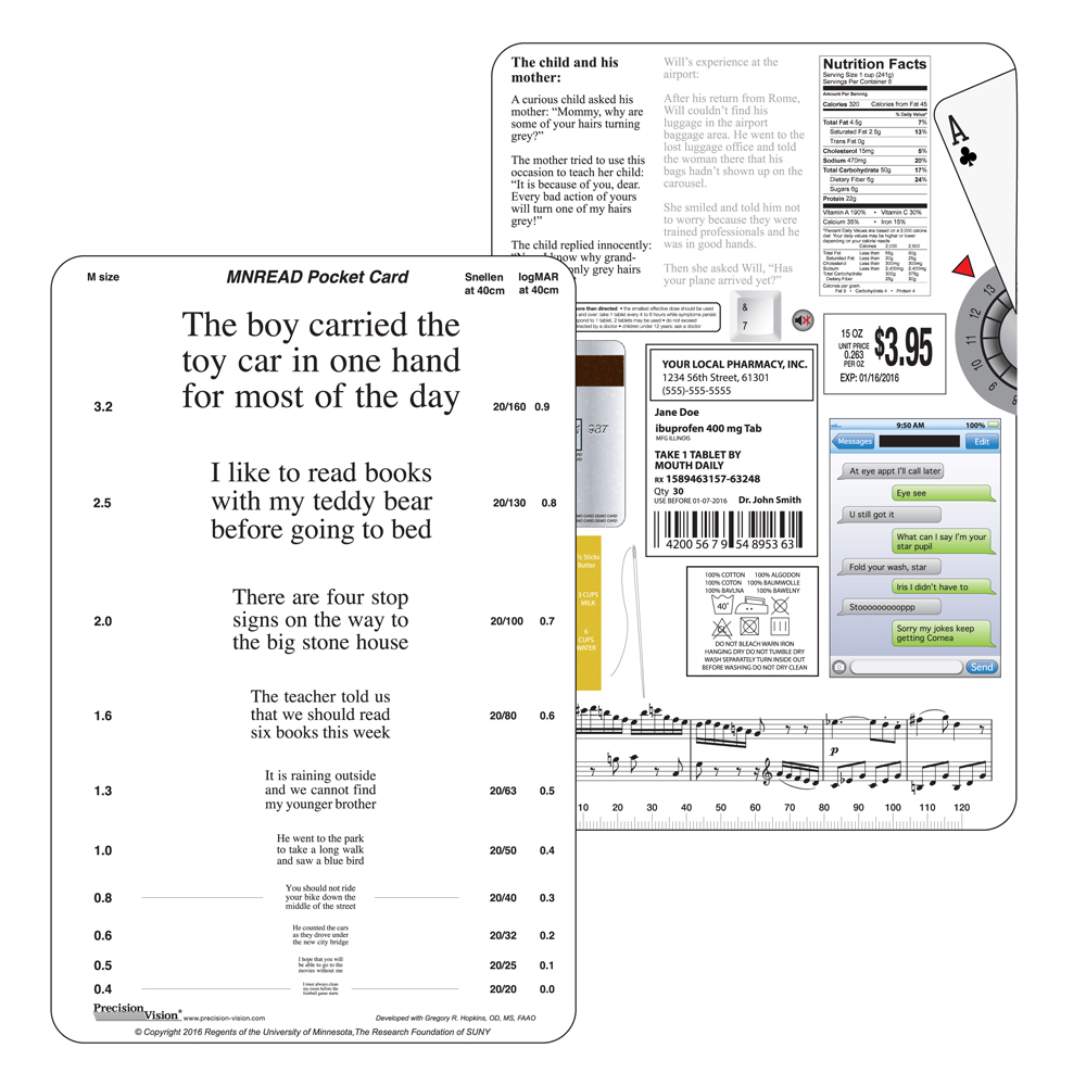 MNRead Pocket Card