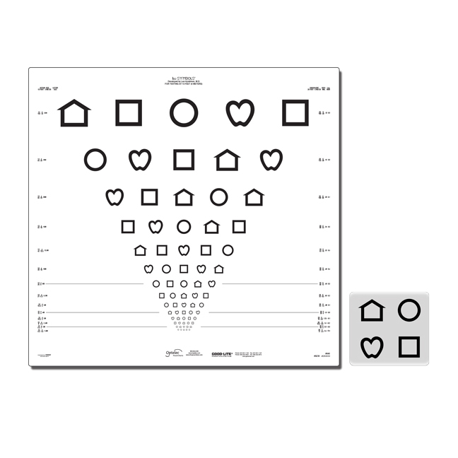 LEA Symbols ETDRS Translucent Distance Charts (13 feet/4 meters)