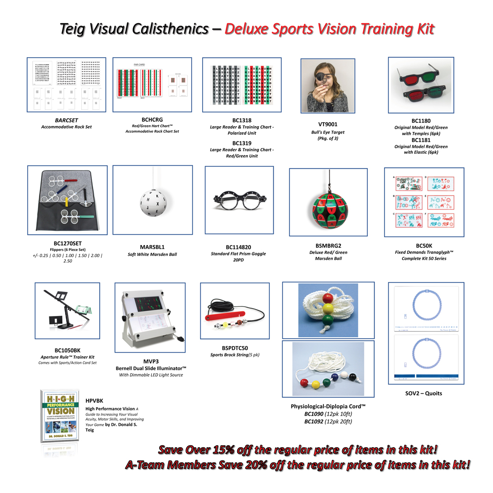Teig Visual Calisthenics - Deluxe Sports Vision Training Kit
