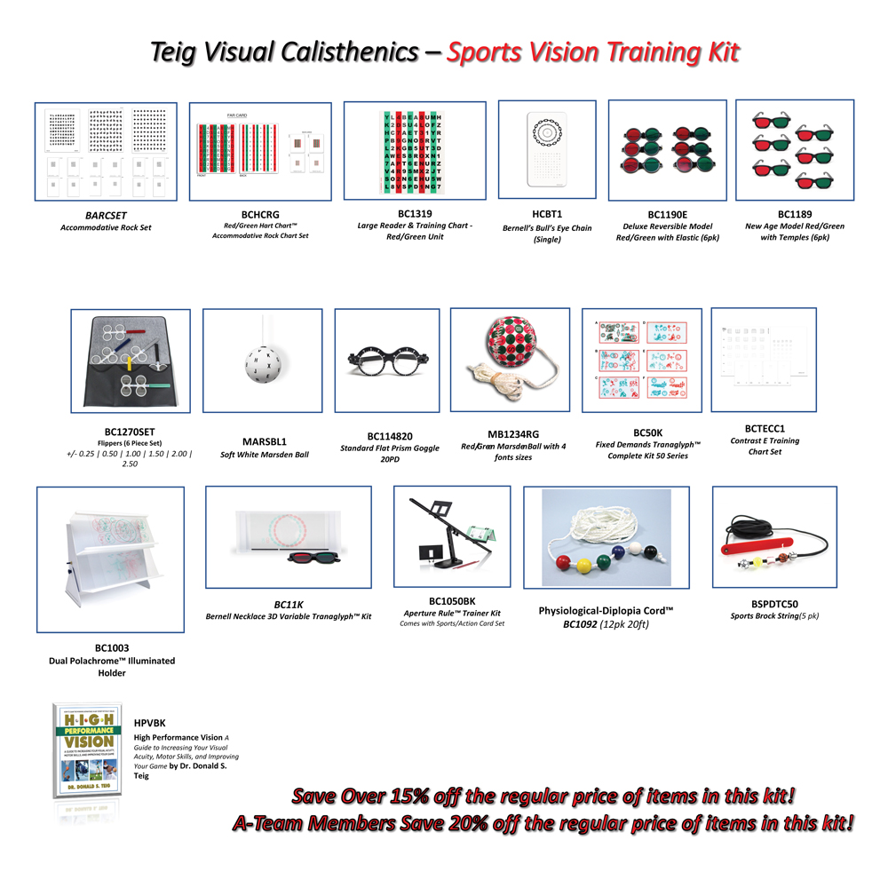 Teig Visual Calisthenics - Sports Vision Training Kit