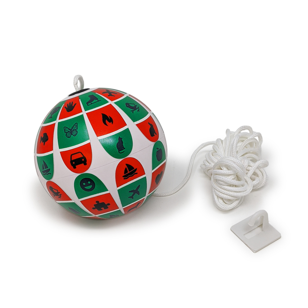 Soft White Red/Green Marsden Ball with Children's Figures