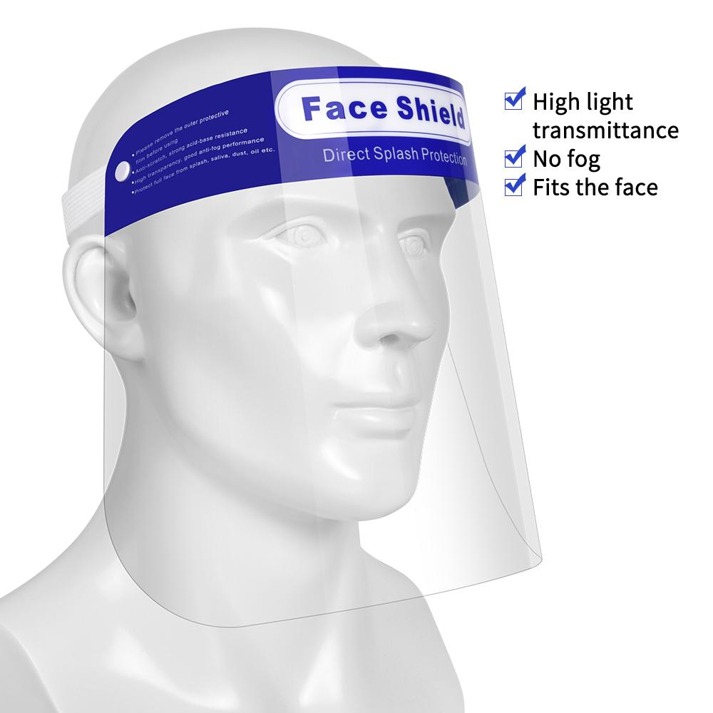 Anti-Fog Protective Face Shields for Adults - Package of 10