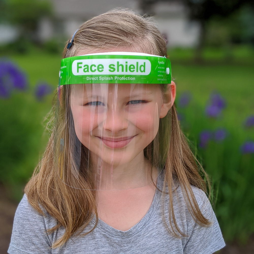 Anti-Fog Protective Face Shields for Children - Package of 5