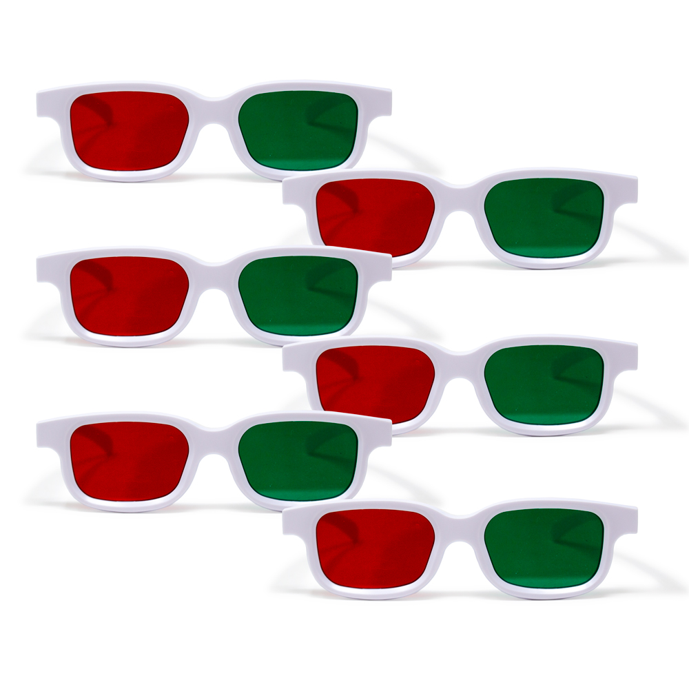 Bernell Blanco Goggle Red/Green - 6pk