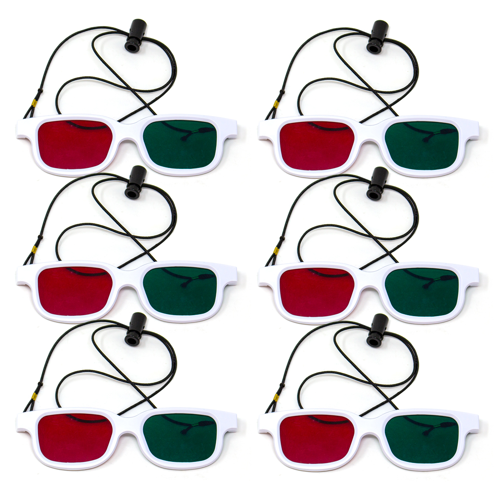 Bernell Blanco Goggle Red/Green with Elastic - 6pk