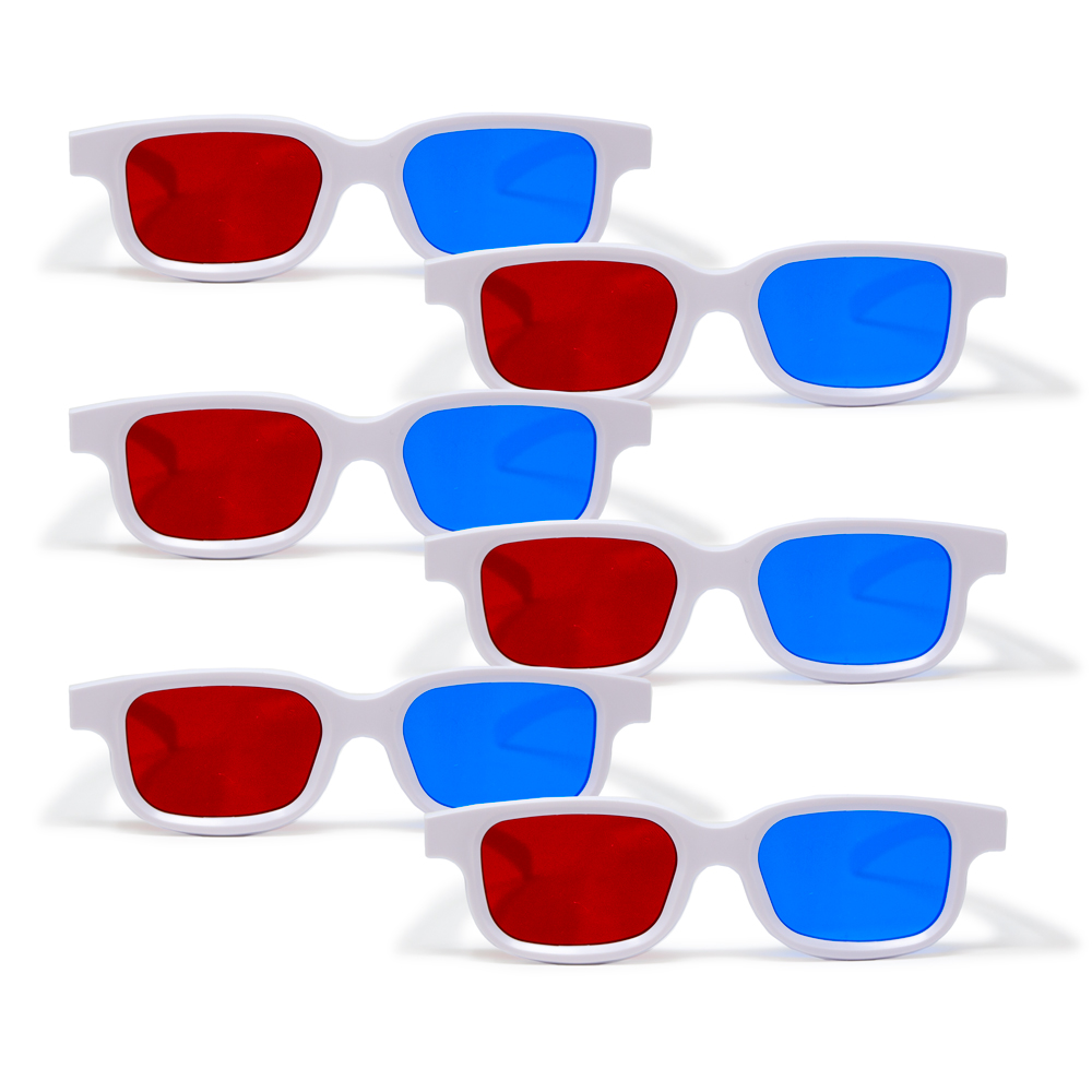 Bernell Blanco Goggle Red/Blue - 6pk
